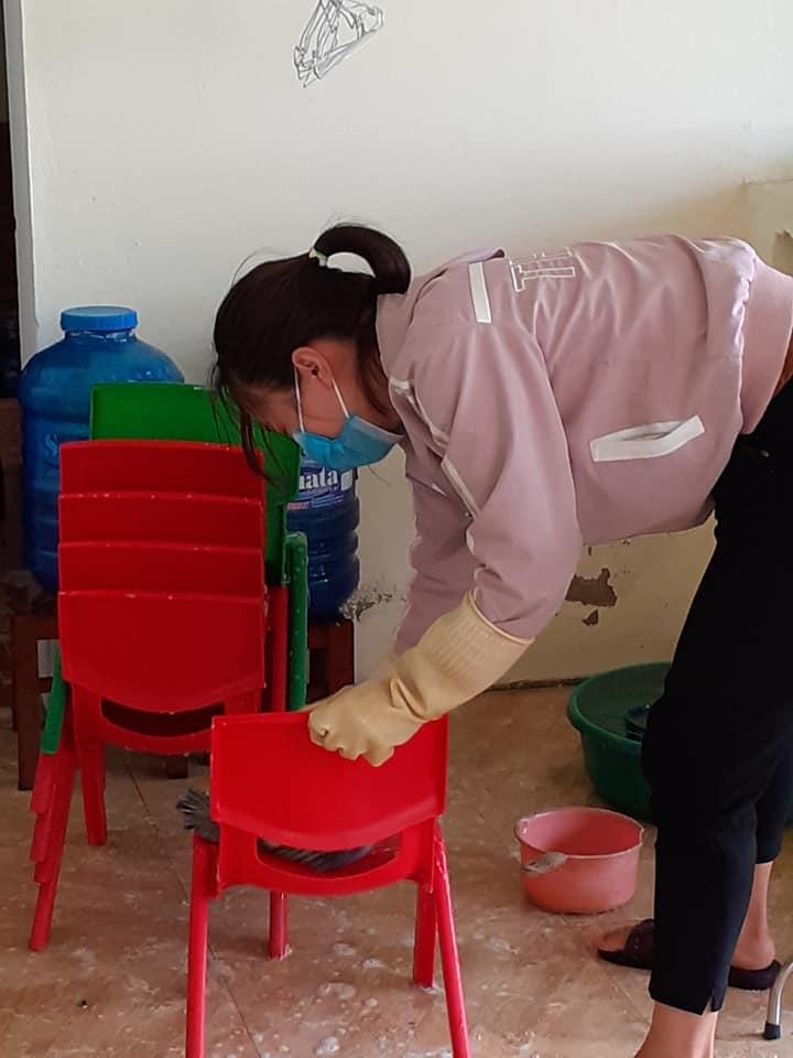 Trường MN Yên Hồ phòng chống dịch cúm virus Corona